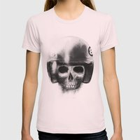 Death Racer Womens Fitted Tee Light Pink SMALL
