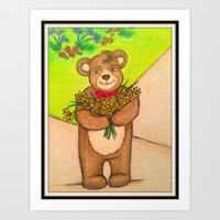 FLOWERS FOR YOU - Adorab… Art Print