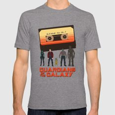 GUARDIANS OF THE GALAXY Mens Fitted Tee Tri-Grey SMALL