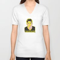 Charlie Sheen Winning_Ink Unisex V-Neck