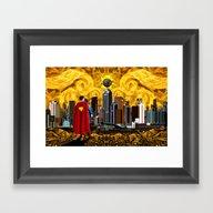 Super Summer Starry Afte… Framed Art Print