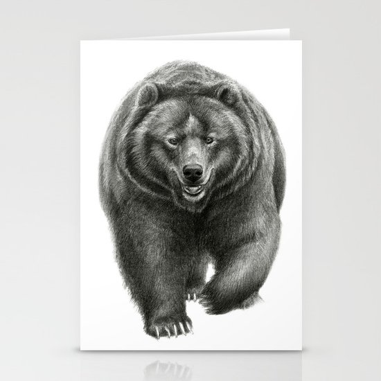 Brown Bear SK068 Stationery Card