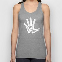 Hand to Face Unisex Tank Top