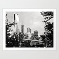 The Chicago Skyline Art Print