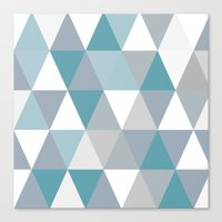 Rombi light blue Canvas Print