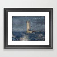 vent del nord Framed Art Print