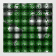 Green Map Canvas Print