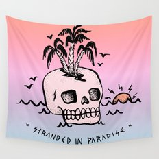 STRANDED IN PARADISE Wall Tapestry