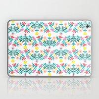 Folk Flowers White Laptop & iPad Skin