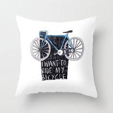 My Bicycle Throw Pillow