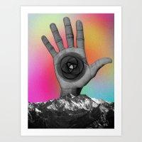 MOUNTAIN HAND Art Print
