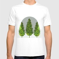 three green trees Mens Fitted Tee White SMALL