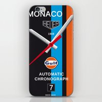 Monaco Tag Heuer Watch, Steve McQueen Le Mans Vintage Poster Decoration iPhone & iPod Skin