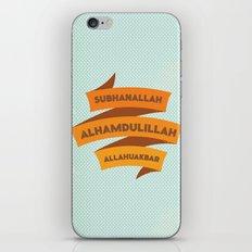 Subhanallah Alhamdulillah Allahuakbar iPhone & iPod Skin