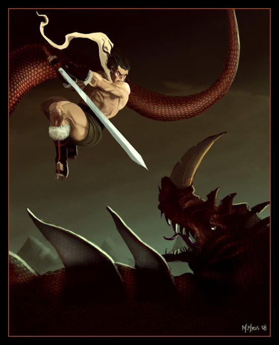 Slay the Dragon! Art Print