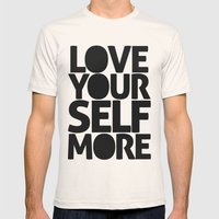 LOVE YOURSELF MORE Mens Fitted Tee Natural SMALL