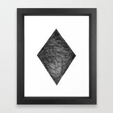 Graphite Diamond Framed Art Print