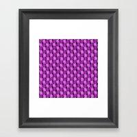 Woven Purple - Pattern Painting Framed Art Print