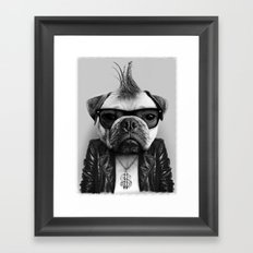 PUG STAR Framed Art Print