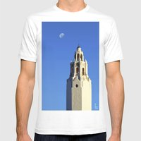 Spanish Tower Mens Fitted Tee White SMALL