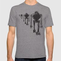 March Of The Robots Mens Fitted Tee Tri-Grey SMALL