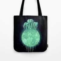 Elephants On Moon (varia… Tote Bag