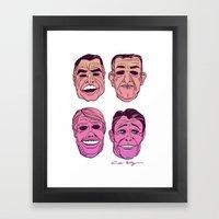POINT BREAK  - The Ex Presidents Framed Art Print
