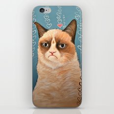 Grumpy Cat ... Love You iPhone & iPod Skin