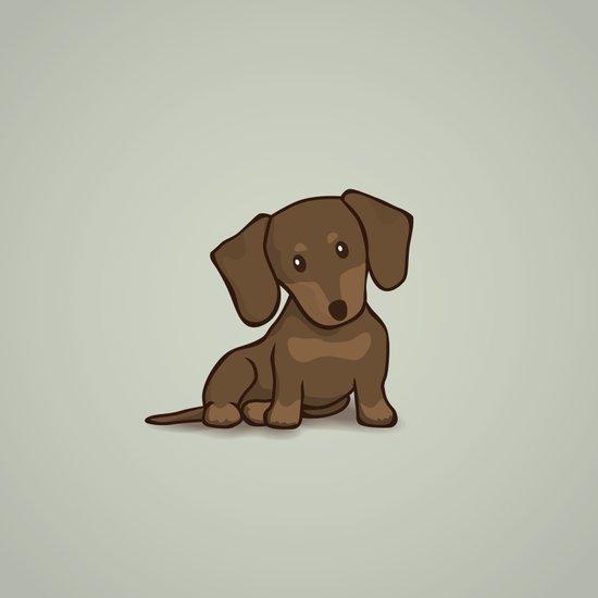 Daschund Puppy Illustration Art Print