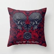 Love Of The Skulls Throw Pillow