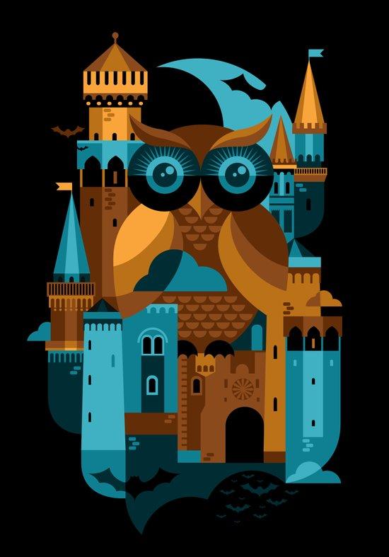 Owl Castle Canvas Print