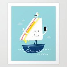 Sail-Free Art Print