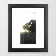morning fences Framed Art Print