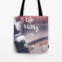 Einstein Quote on life motivation, balance, moving on, going on, inspiration Tote Bag