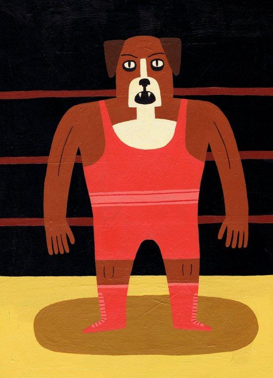 Dog Wrestler Canvas Print