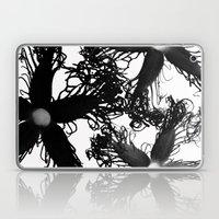 Three Black Flowers Laptop & iPad Skin