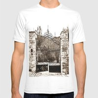 Old Gates Mens Fitted Tee White SMALL