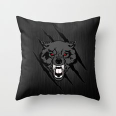 WOLF And ClAW Throw Pillow