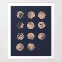 Douze Lunes Art Print