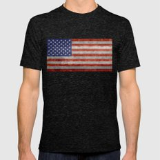Flag Of The United State… Mens Fitted Tee Tri-Black SMALL