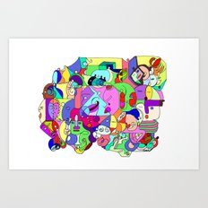 Can you spot the faces? Art Print