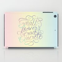 Small Flowers Crack Conc… iPad Case