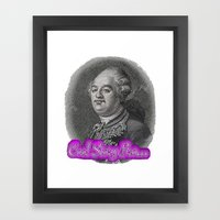 Cool Story King Louis XVI Framed Art Print