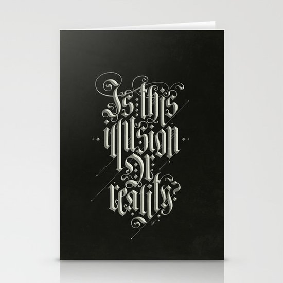 Is This Illusion Or Reality? Stationery Card