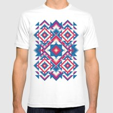 Kaleidoscope White Mens Fitted Tee SMALL