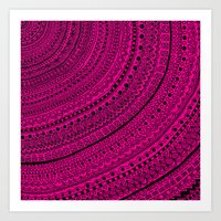Hot Pink Pulse O4. Art Print