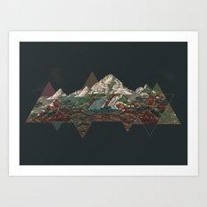 This mountain Art Print