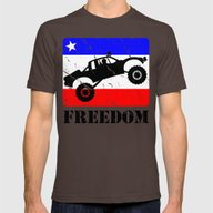 FREEDOM! Pre-Runner Mens Fitted Tee Brown SMALL