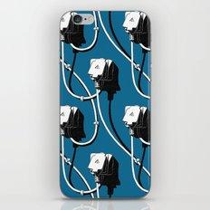 Wired. Blue iPhone & iPod Skin