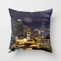 It's Night In New York C… Throw Pillow